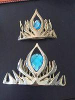 al por mayor tiara azul reina-Frozen elsaanna reina corona elsa coronación corona plástica pelo cosplay cosplay corona de la tiara de oro / rojo / rosa / azul 4colours
