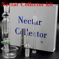Wholesale Nectar collector kit both quartz trip titanium trip mm mm mm all IN STOCK Factory price Glass pipe water pipe free