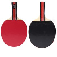 Wholesale Red Blue Long Handle Shake hand Table Tennis Racket Pingpong Rackets Paddle With Waterproof Bag Pouch
