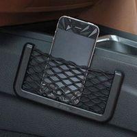 Wholesale hot sale cm cm Net Bag Automotive with Adhesive Visor Car Organizer Pockets Net