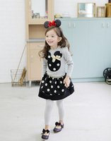 Wholesale Girls clothing set New Children Girl s PC Sets Skirt Suit Minnie Mouse baby sets dots skirt dots pants kids suits
