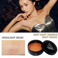 Wholesale Sexy Body Shimmer Cream Glitter Lotion Skin Radiant Brightening Bronzer Body Contour Cosmetics Highlight Beam g