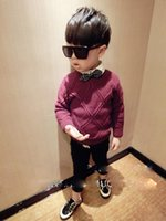 argyle sweaters boys - Korean trendy new styles for fall winter boys sweaters children s wear Argyle sweater
