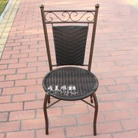 iron wicker rattan - Discount plastic wicker chair wicker chair wrought iron chairs black metal frame rattan dining chair high chairs coffee flower