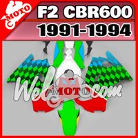 Cheap NEW really ABS fairings high quality AAA+3 free gift+Fairing Fit 91-94 CBR600RR 1991-1994 CBR 600 F2 ABS Red Green H21W93