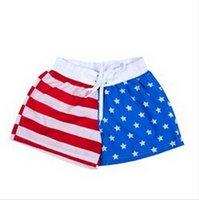 american flag swim trunks - new summer fashion lovers American flag beach swimsuit shorts men and women surfing beach swimming trunks