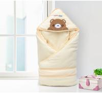 Wholesale Detachable Baby sleeping bags Four seasons as envelope for newborn cocoon wrap sleepsack baby as a blanket swaddling