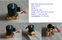 Wholesale Brass All copper G quot W250 Electric Solenoid Valve Water Air Fuels Gas Normal Closed N C V AC Option DC12V DC24V