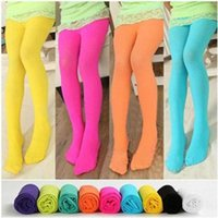 Wholesale Lovely Kawaii Children Girl Kids Velvet Pantyhose Tights Opaque Dance Stocking Pants Spring Autumn Fall Winter color free shiping DHL