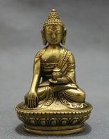 Wholesale New Tibet Pure Brass Buddhism Seat Shakyamuni Joss Sakyamuni Buddha Jar Statue