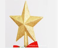 Wholesale Christmas tree ornaments The tree top star Golden star Christmas items Item No