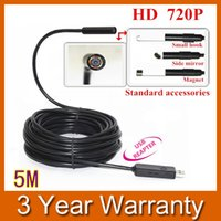 Wholesale 5M Mini USB HD P Endoscope Borescope Snake mm Lens LED IP67 Waterproof Inspection Camera Borescope EP64