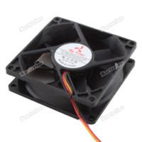 ball bearing mount - smartgood MM MM LED Blue Internal PC CPU Computer Cooling Fan Case Mount Screws MM Black