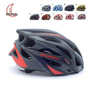 used bicycles - MOON brand bicycle helmet Ultralight and Integrally molded Professional bike cycling helmet Dual use Road or MTB colors