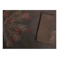 beach dining - Suolanduo Fir Beach Embroidered Table Mat Holiday Dining Mat by Home Designer