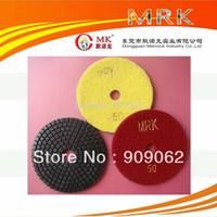 wet grinding - 4 Inch MRK Wet Dry Grinding Pad Disc Diamond Soft Polishing Pads For Marble Granite Terrazzo Concrete