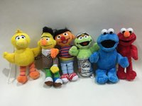sesame street - Colorful Sesame Street Elmo Stuffed Plush Dolls Toys Keychain inch