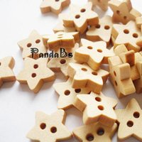 Cheap Natural 2-hole Basic Sewing Button in Star Shape, Wooden Buttons, BurlyWood, about 13mm in diameter, 250pcs bag