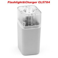 Cheap KENTLI 4 PORTS 1.5V AA AAA Lithium Rechargeable Battery charger Smart USB LED Flashlight charger CL57X4