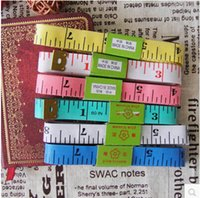 Wholesale 3000pcs per Factory price Tape Measure Length Cm Soft Ruler Sewing Tailor Measuring Ruler Tool Kids Cloth Ruler By DHL