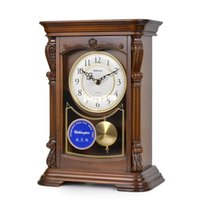 antique desk items - 100 real picture Wellington antique clocks clock Continental retro antique wooden desk bell chime clock living room decorative items large
