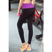 Wholesale 2015 Top Fashion Sports Pants Force Exercise Women Sports Yoga Tights Elastic Fitness Running Trousers Slim Aerobics Pants