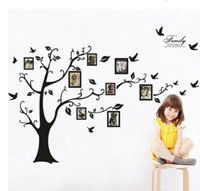 adhesive picture frames - 100pcs XXL Size CM Family tree Picture Photo Frame Tree Wall Quote Art Stickers Vinyl Decals Home Decor