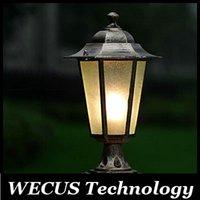 Al por mayor (WECUS) envío libre, resistente al agua y Antioxidantes faros columna de pared al aire libre, serie europea, E27 y sin fuente de luz, XJ-HWD0057