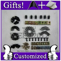 Wholesale Fairing Screw Bolts Kit black For ZZR1200 Fairings Bolts Screws ZZR
