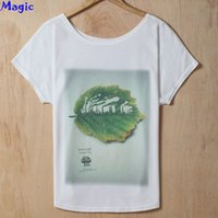 big environment - Magic Factory Pollution of environment leaf creative tshirt new cotton t shirt Women s big size thin casual t shirt tops tees