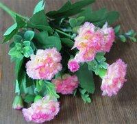 artificial carnations - HOT Silk Carnation Bush cm quot Length P Artificial Carnations Clove Stems for Wedding Centerpiece Home Xmas Showcase Decor