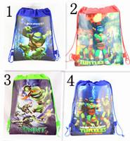 Wholesale Teenage Mutant Ninja Turtles Kids Drawstring Backpacks Bags cartoon Backpacks Accessories children girls Christmas gifts school bags