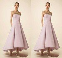 classic wedding dress - Pink Elegant Porm Dresses Sleeveless Beads Sequins Asymmetrical Satin Jewel Elie Saab New Designer Evneing Fromal Gowns Wedding Party DressZ