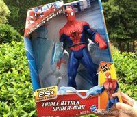 Wholesale Anime Figure Amazing Spider Man Movie Spiderman Toy CM Ultra Action Figure Toys With Retail Box Luminous talk Movies Hero Spiderman Toys
