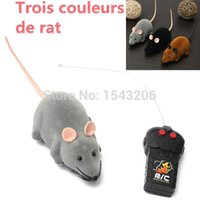 Wholesale 2015 New Arrivel New Scary R C Simulation Plush Mouse Mice With Remote Controller Kids Toy Gift Gray order lt no track