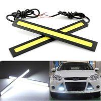 Wholesale High Quality cm DC V COB LED car light Daytime Running light DRL Waterproof Car styling parking Light Bar Strip