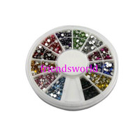 Wholesale Nail Art Glitter Tip mm Rhinestone Deco With Wheel set set H2002
