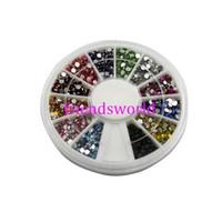 Wholesale Nail Art Glitter Tip mm Rhinestone Deco With Wheel set set H2002