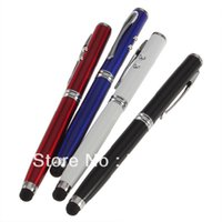 Wholesale 1pcs4in1 Laser Pointer LED Torch Touch Screen Stylus Ball Pen for Phone Pad FreeShipping Brand New