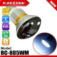 Wholesale Eazzydv BC WM Mirror Bulb WiFi P2P IP DVR Camera with W White LED Light HD P Resolution x720 pixels