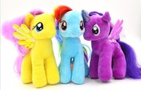 pony hair - free shpping DHL New My Little Pony Plush toy doll Unicorn animal hair plush doll Christmas gift