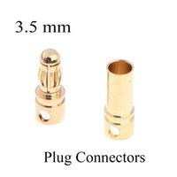 Wholesale High Qulity mm Copper Bullet Banana Plug Connectors Male Female for RC Motor ESC Battery Part