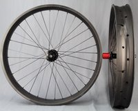 sram - First Look Fatbike Carbon Wheelset Tubeless Clincher For Sram XX1 and Shimano Body Chosen Hub Black Spoke DT