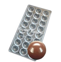 belgium chocolates - 275 mm cups Easter Smooth Ball Chocolate Clear Polycarbonate Plastic Mould DIY Handmade Candy Chocolate Mold Belgium