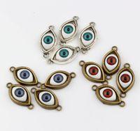 antique turkish jewelry - Hot Antique Silver Antique Bronze Zinc Alloy Turkish Evil Eye charms Pendants DIY Jewelry