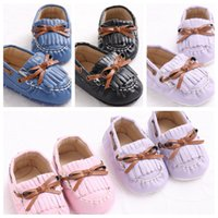 Wholesale Spring Autumn Newborn Baby First Walkers Shoes Infant Toddler Boys Girls PU Leather Soft Soled Anti slip Loafer Shoes