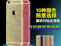 Wholesale Full Body skins Glitter bling Film Shield Matte Screen Protector For iPhone plus S front back cover sticker