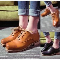 Free Shipping New Style 2014 Women Lady Genuine Leather Shoes British Retro Casual Oxford Shoes Fashion