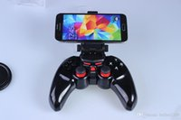 Wholesale Handle For Android ios Smart Mobile Phone Tablet PC Bluetooth Wireless Game Pad Controller Joystick with inch Clamp Holder