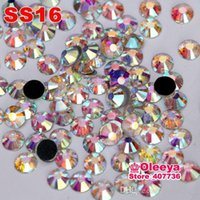 Wholesale High Quality Better DMC Hotfix Rhinestones ss16 crystal Clear White AB Hight Quality Hot Fix Stone For Hot fix Motif Y2881